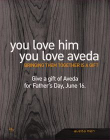 Give a gift of Aveda this Father's Day